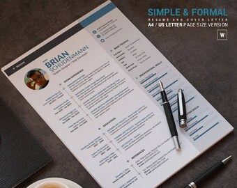 professional resume template instant download cv template word professional cv design creative - Download Resume Templates Word