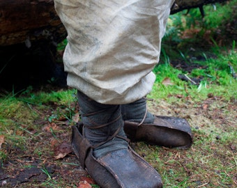 Medieval Leather Boots  | Hedeby Boots | Medieval Leather Shoes | Viking Shoes | Celtic Boots | Haithabu