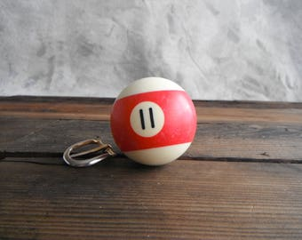 Pool Ball 11 - Red Stripe