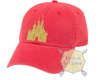 Disney Castle Hat, Baseball Hat, Dad Hat, Dad Cap, Disney Hat