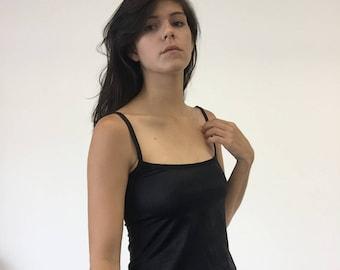 Vintage 90s GUESS Silky Little Black Slip Dress Xs-Medium