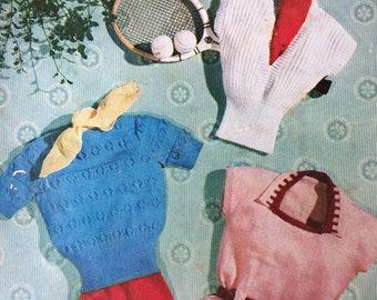 vintage Stitchcraft magazine May 1951 knitting crochet cross stitch