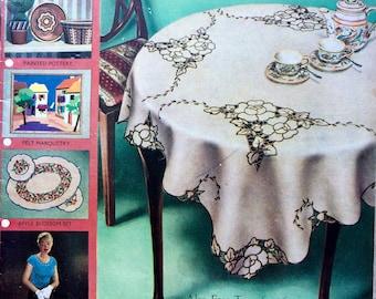 Vintage 1950's Needlewoman and Needlecraft magazine No.66 knitting, crochet patterns