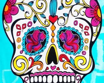 On SALE Sugar Skull - pop art - 160 x 219 stitches - Cross Stitch Pattern Pdf - INSTANT Download - B1176