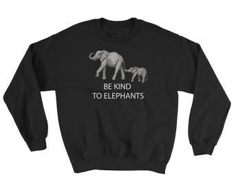 Be Kind to Cute Elephants Sweatshirt