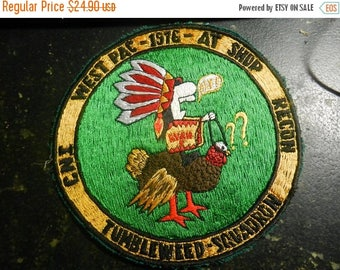 Summer Sale Vintage US Navy WESTPAC 1976 Shop Recon Tumbleweed Squadron patch Japanese made