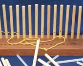 600mm Elm Peg Loom - 100mm wide, 3 row, 3 spacings, 6 & 9mm pegs hand crafted in North Yorkshire
