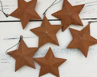 Rusty star Christmas ornaments