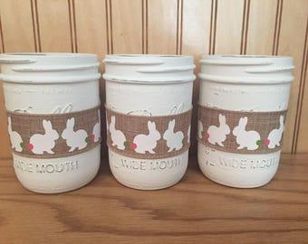Easter mason jar centerpiece, farmhouse decor, spring mason jar centerpiece