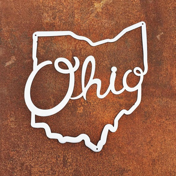 Ohio State Script Metal Wall Art | Ohio State Metal Wall Art | Ohio Script
