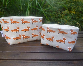 Fox Fabric Boxes