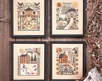 Prairie Seasons Counted Cross Stitch Chart by Prairie Schooler