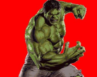 "Hulk Counted Cross Stitch Marvel Pattern Hulk point de croix embroidery needlework needlepoint - 25.57"" x 36.00"" - L161"
