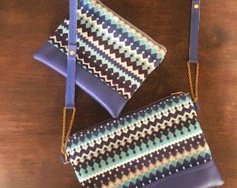 Royal blues strap bag