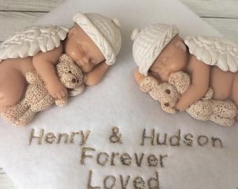 Twin Angel Babies | Twin Loss Gift | Twin Baby Loss Gift | Twin Miscarriage Gift | Loss of Twins | Angel Baby Memorials | Twin Angels