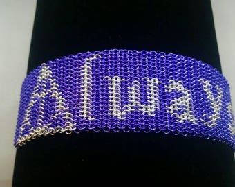Always Harry Potter Chainmaille Bracelet Chainmail purple