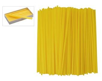 8 oz Box of Yellow Sprue Wax 8 Gauge 3.25 mm Jewelry Pattern Making Investment Wax - WAX-312.08