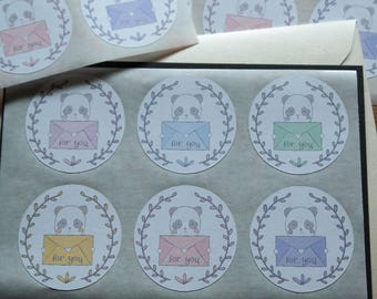 Snail mail (for you) - 12 stickers