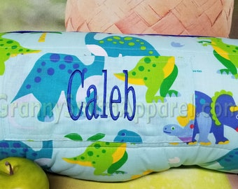 Dinosaur Land Nap Mat Roll With Pillow Blanket Attached FREE PERSONALIZATION Preschool Or