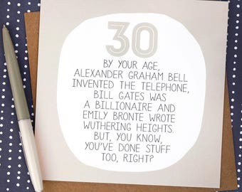 Funny 30th Birthday Card - funny birthday cards - 30th card - 30th birthday cards - birthday card 30 - paper plane - paperplane