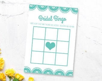 Lace Bridal Shower Game Printable- Bridal Bingo- Blank- Wedding Shower Game- DIY Digital Download