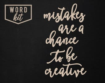 Chance To Be Creative | Word Kit | SIGN NOT INCLUDED