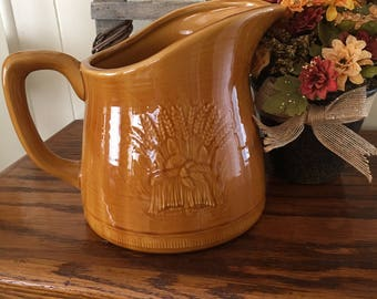 Franciscan Wheat Pitcher, Stonewear Made in USA 1951-1954 Retired