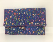 Handmade ethical embroidered purse, made in Madagascar