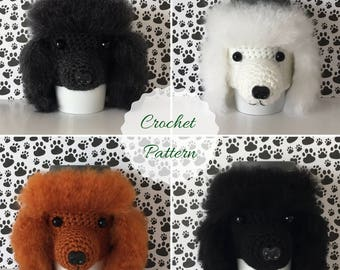 Poodle Pattern - Crochet Pattern - Dog Crochet Pattern - Amigurumi Dog - Crochet Pattern Dog - Cup Sleeve Pattern - Amigurumi Patterns