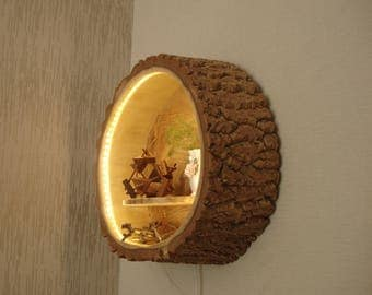 Wood lamp Wall lamp Wall lamp