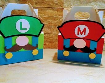 Mario Bros and Luigi Mini Gable Boxes set of 10/ Mario Bros Mini Boxes