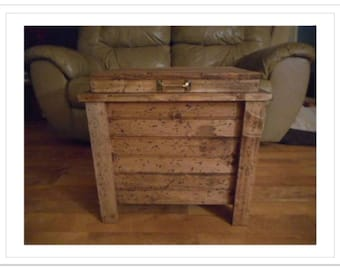 Wooden Hope Chest Coffee Table Gun Case Cabinet Hidden