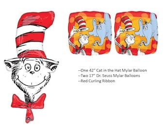 Cat in the Hat Balloons, Dr. Seuss Balloons, Horton Hears A Who balloon