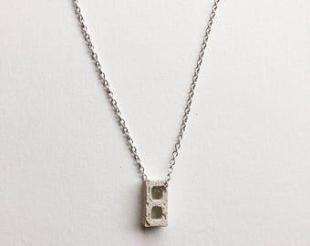 mini cinderblock necklace