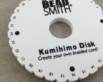"""6"""" Beadsmith Brand Round Kumihimo Braiding Disc - 3/8"""" Thick Foam Wheel with Cord Management Notches - Sold Individually - (KD600)"""