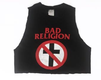 90s Vintage Bad Religion Crop Tank Top