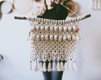 Macrame wall hanging, etsy gift, christmas macrame, boho montreal, cotton rope, modern macrame, fiber art, macrame tapestry, gift for her
