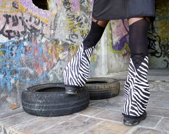 Zebra with laced 'emi-Zion' spats underground clothing