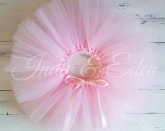 Pink Tutu Pastel colours for girls birthday photo prop cake smash baby toddler skirt