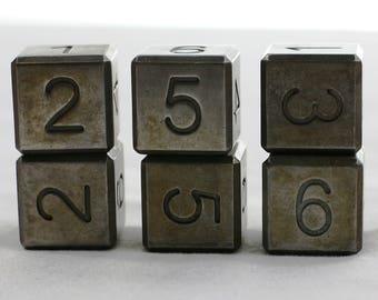 Zucati EleMetal Dice: Cast Iron 6d6