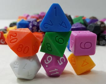 Perfect Plastic Dice - Gloss Polish with Ink - Total Random 7pc Set