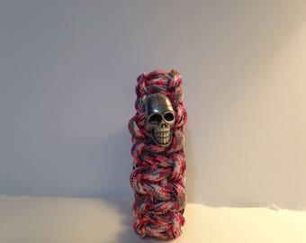 Pink Camo with Skull Charm
