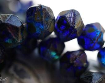 Oceanic Blue, Czech Beads, English Cut Beads, N1725