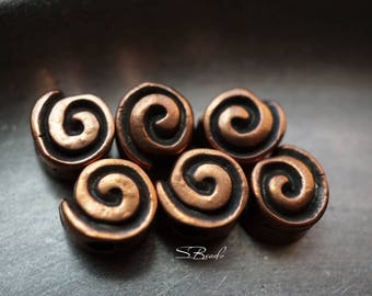 Swirls, Bronze Findings, Findings, Beads, N1809