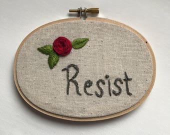 Resist Oval Embrodiery Hoop