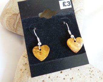 Colourful Shell Heart Earrings