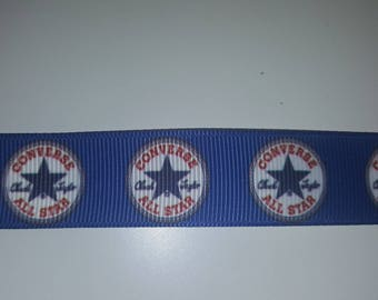 converse blue 22mm Ribbon sold by the yard