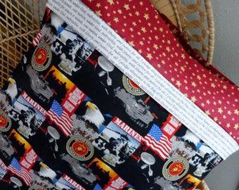 Patriotic Pillowcase/Sham, Military Themed Pillowcases, Armed Forces Pillowcase, Military Gift Bags, Patriotic Bedding, Pledge of Allegiance