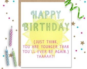 Best friend Birthday, Mom Birthday Card, Dad Birthday Card, Witty Mom Card, sarcastic dad card, Birthday Him, Birthday Her, gift for mom