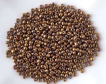 10 g seed beads bronze 2.5 mm